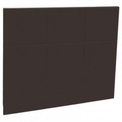 Tetes de lits Tête de lit CARREE Chocolat style cuir Epeda Deco