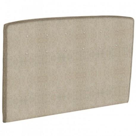 epeda t te de lit capitonn e beige naturel. Black Bedroom Furniture Sets. Home Design Ideas