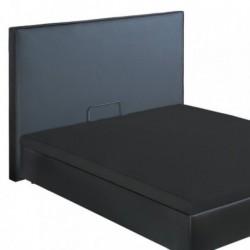 Sommiers Coffre QUARTZ et Tête de lit Noir Bultex Deco