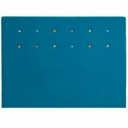 Tetes de lits Tête de lit LOLLYPOP Bleu canard Mérinos Deco
