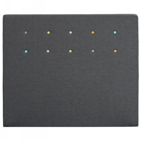 Tetes de lits Tête de lit LOLLYPOP Gris béton Mérinos Deco