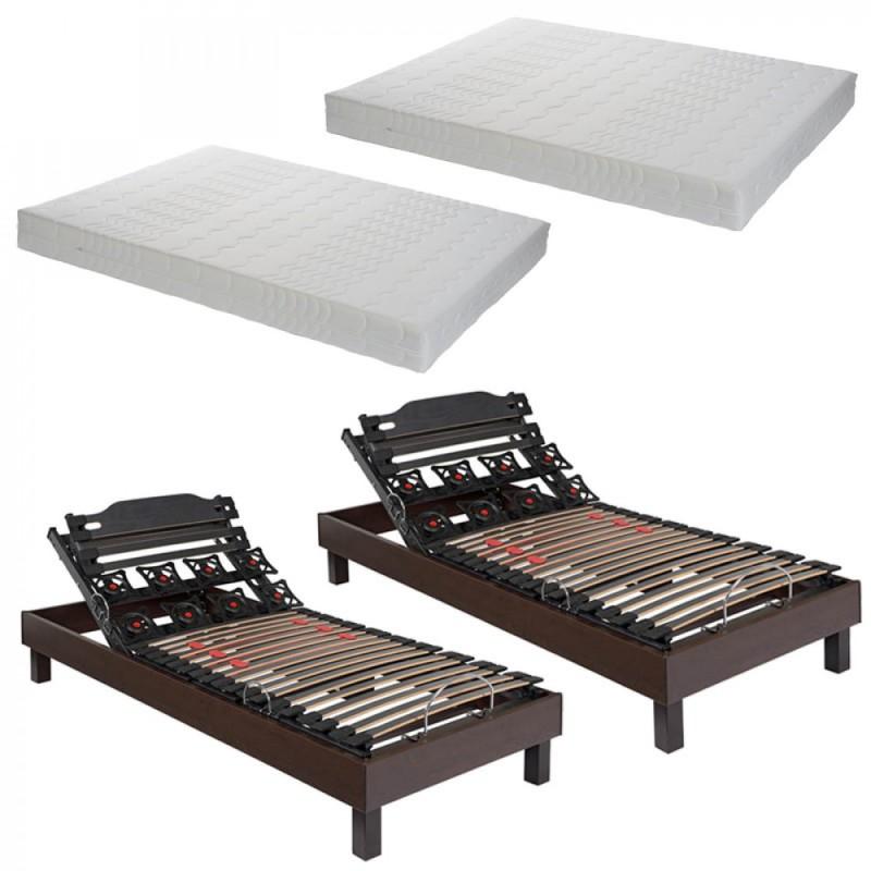 ensemble lec confort relax plus springactif literie tousleslits. Black Bedroom Furniture Sets. Home Design Ideas