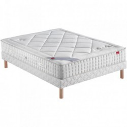 Ensembles VELOURS, Sommier Confort Ferme Epeda et Pieds Epeda